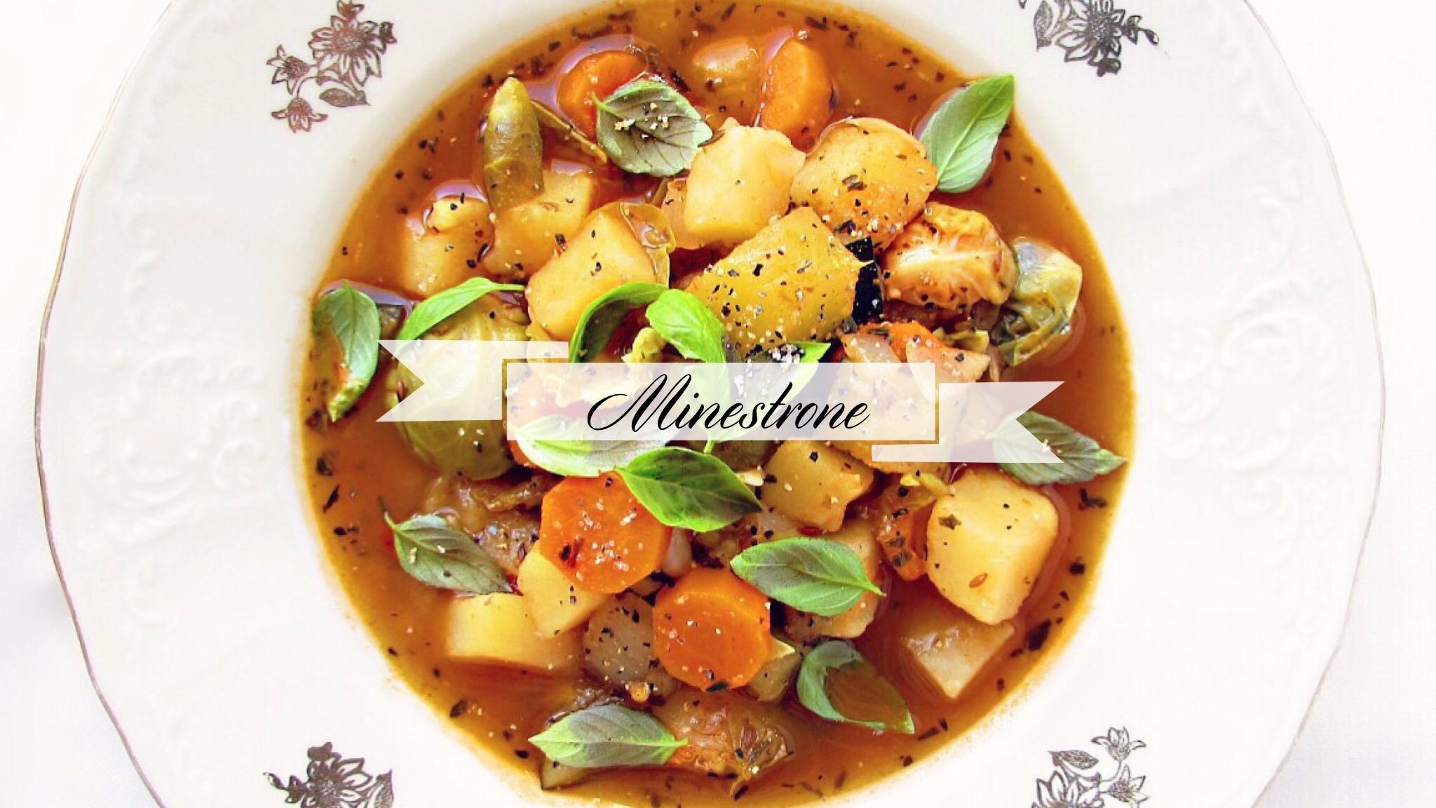 vegetarisk minestrone recept